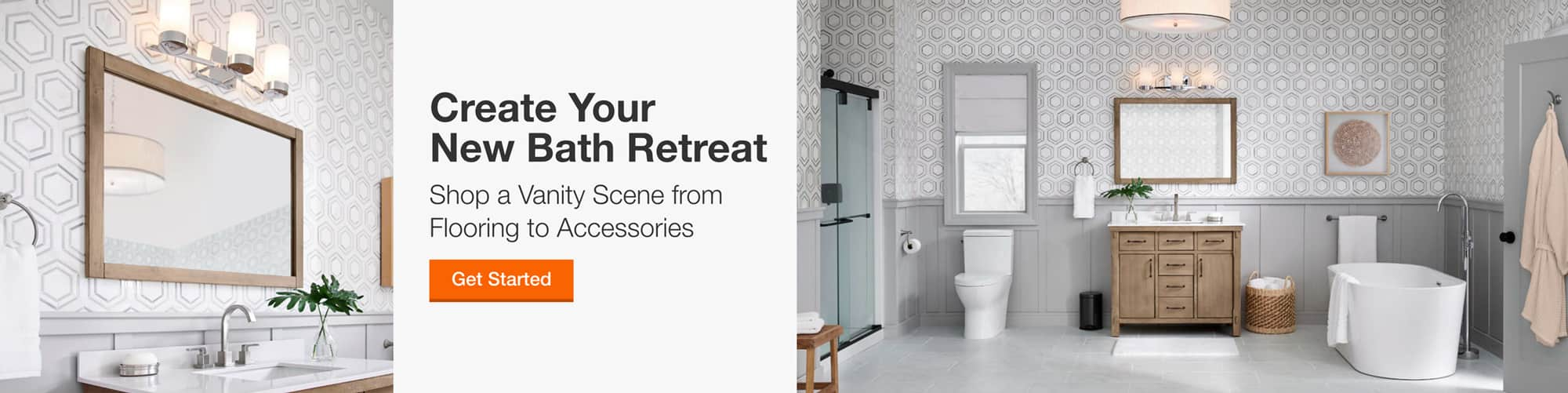 Shop a Vanity Scene from  Flooring to Accessories
