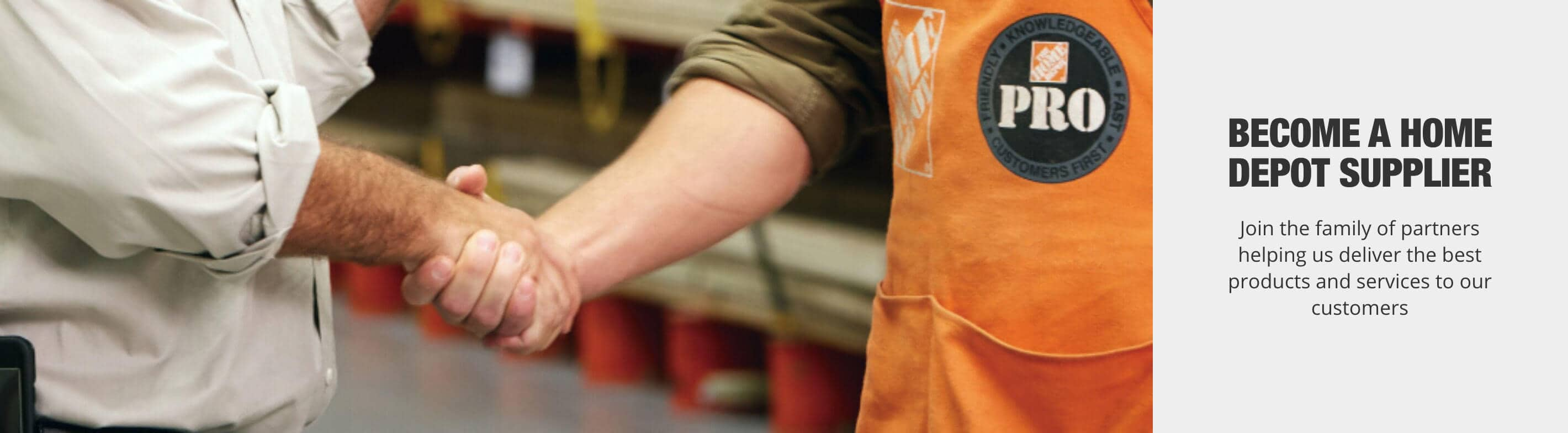 Become a Home Depot Supplier - Join the family of partners helping us deliver the best products and services to our customers