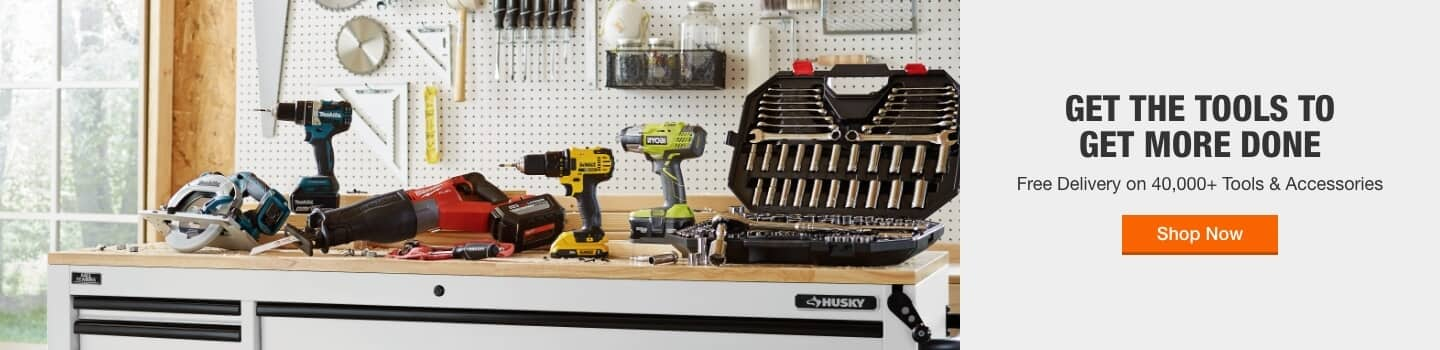 GET THE TOOLS TO GET MORE DONE Free Delivery on 40,000+ Tools & Accessories