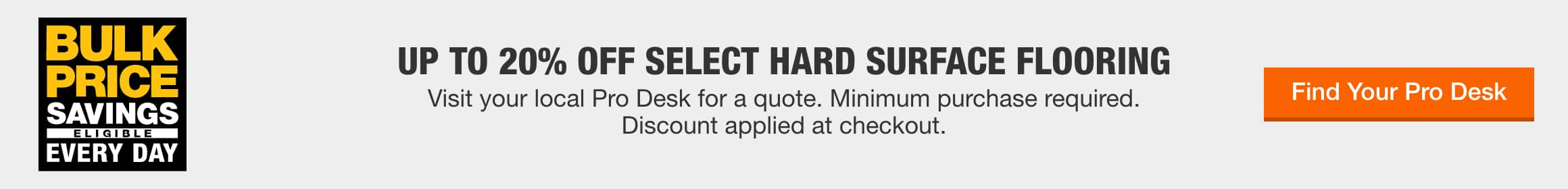 Up to 20% Off Select Hard Surface Flooring