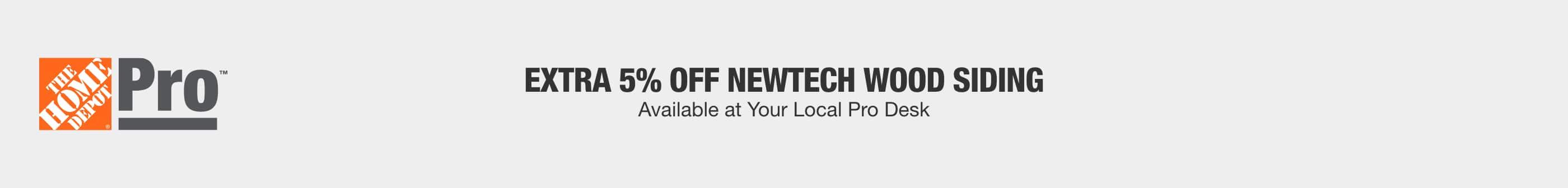 Extra 5% Off NewTech Wood Siding