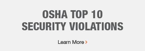 OSHA Top 10 Security Violations