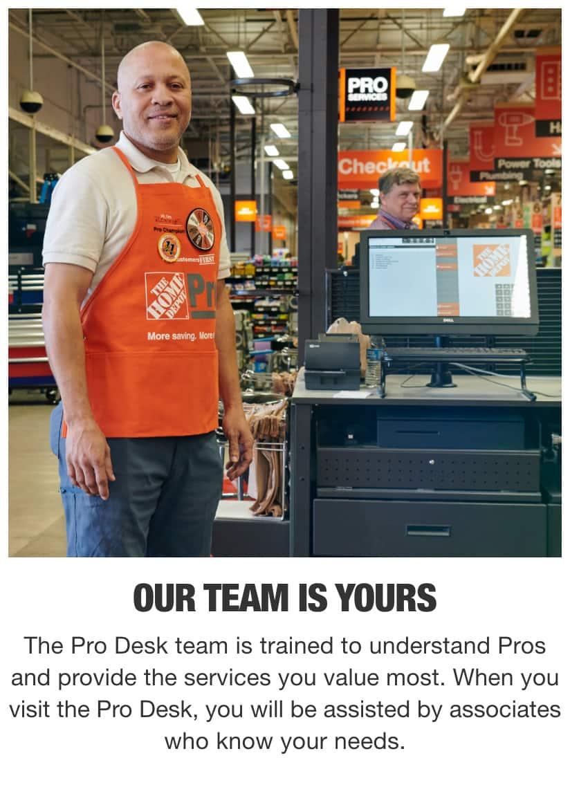Home Depot Pro Desk Associates