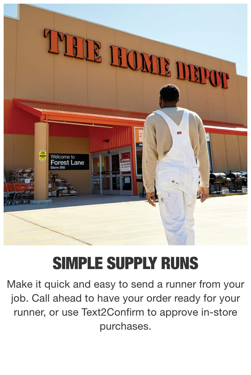 Painter Walking To Entrance Of Home Depot Store