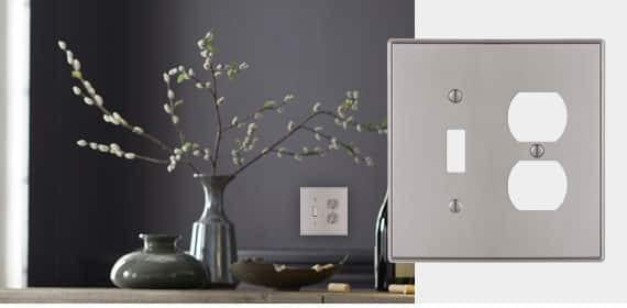 Wall Plates /& Outlet Covers Wired Switch Plates