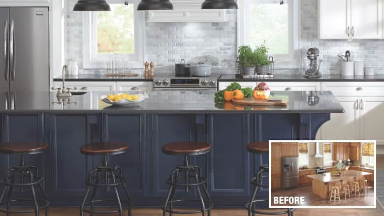 Major makeover for cabinet Refacing