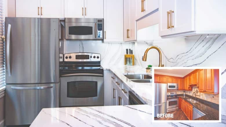 Minor makeover cost of cabinet refacing