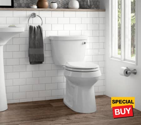 Bath savings toilets