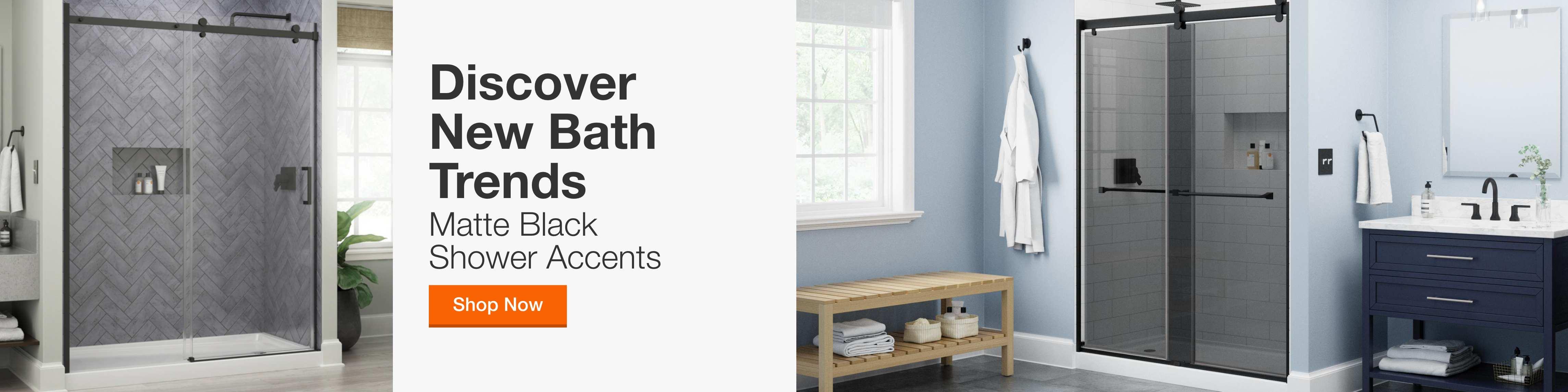 Discover new Bath trends Matte Black Shower Accents shop now