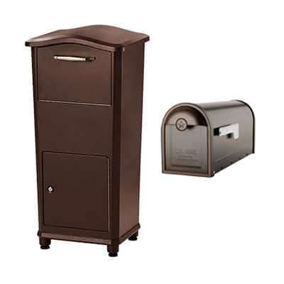 Brown mailboxes