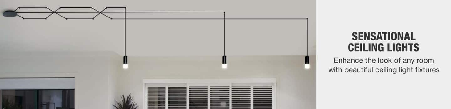 Enhance the look of any room with beautiful ceiling light fixtures