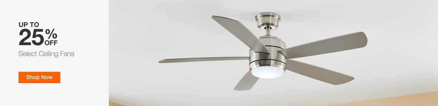 Up to 25% Off Select Ceiling Fans