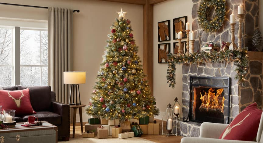 Sparkling Amelia Christmas Tree Collection