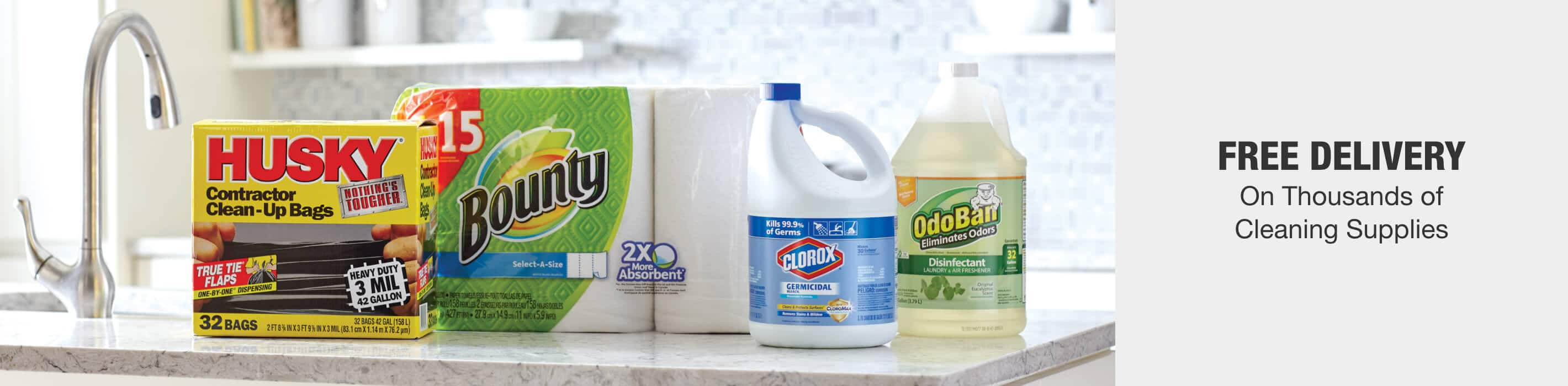 FREE DELIVERY On Thousands of Cleaning Supplies