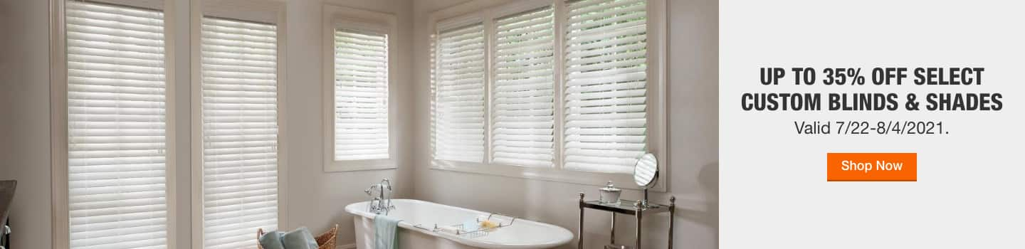 Up to 35% off Select Blinds & Shades