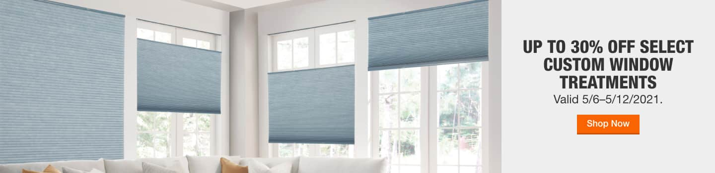 Up to 30% off Select Custom Window Treatments