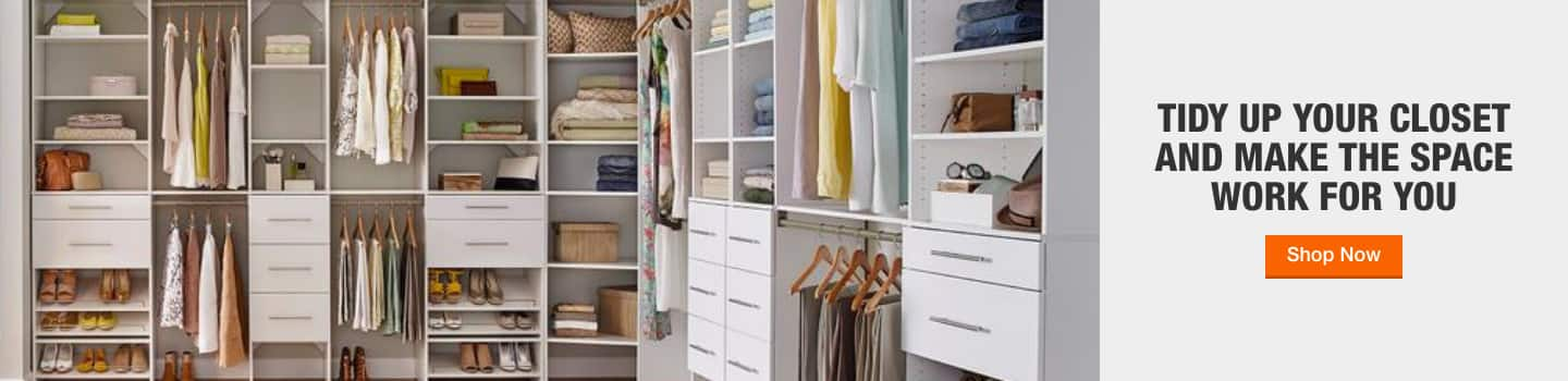 TIDY UP YOUR CLOSET AND MAKE THE SPACE WORK FOR YOU