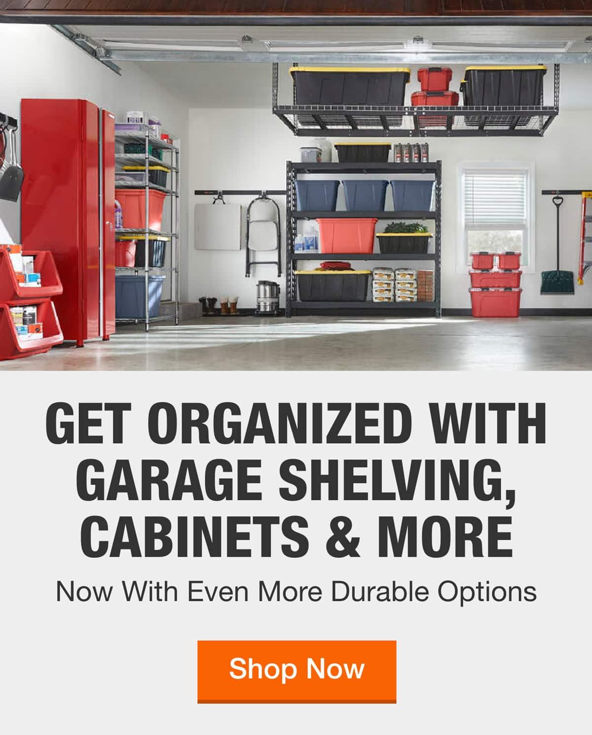 Garage Storage The Home Depot, Garage Tool Storage Ideas Home Depot