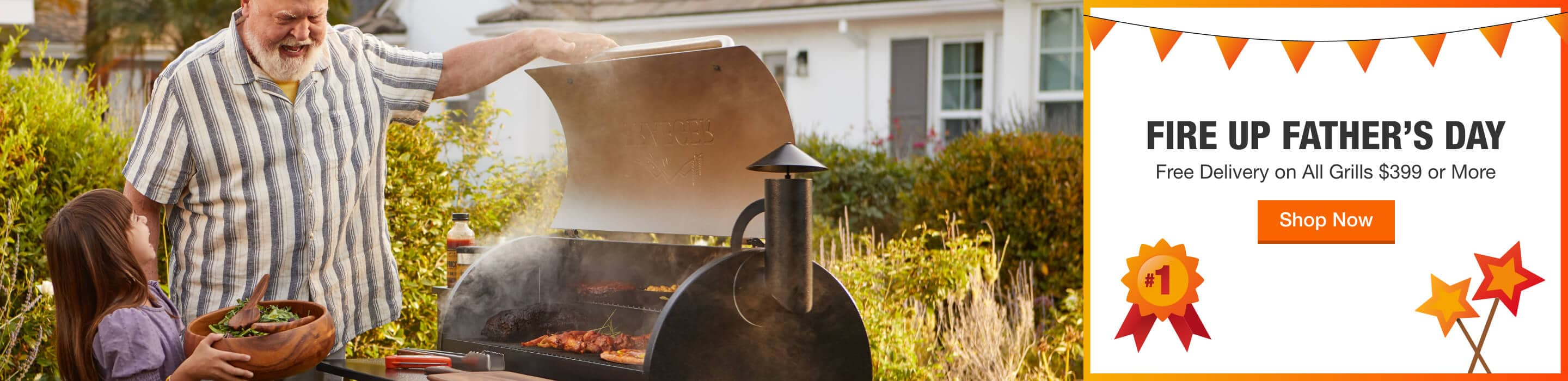 FIRE UP FATHER'S DAY - Free Delivery on All Grills $399 or More. Shop Now