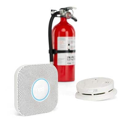 Fire extinguisher, CO detector and smoke alarm