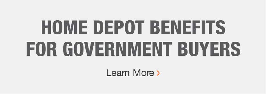 HOME DEPOT BENEFITS FOR GOVERNMENT BUYERS