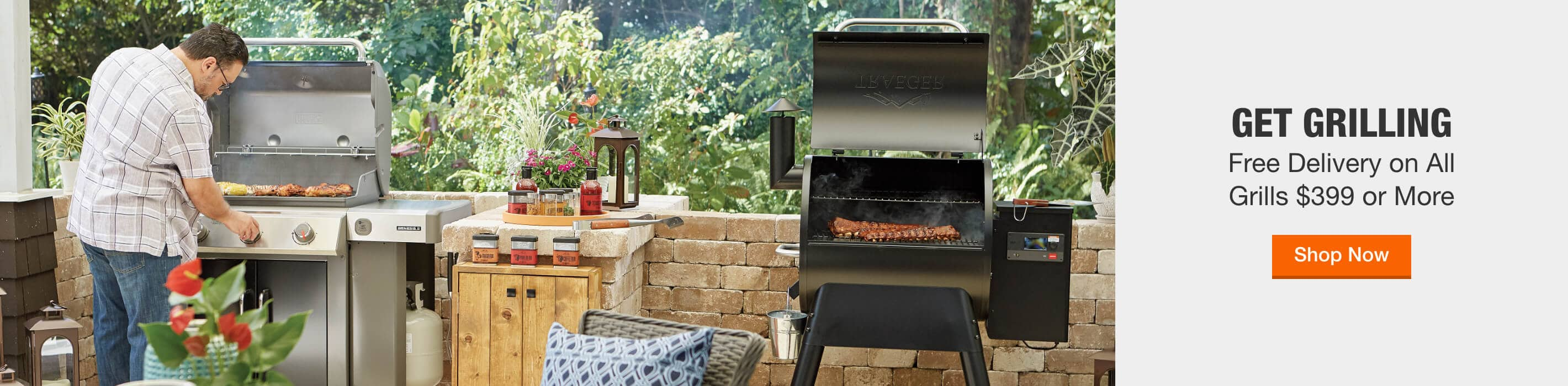GET GRILLING - Free Delivery on All Grills $399 or More. Shop Now
