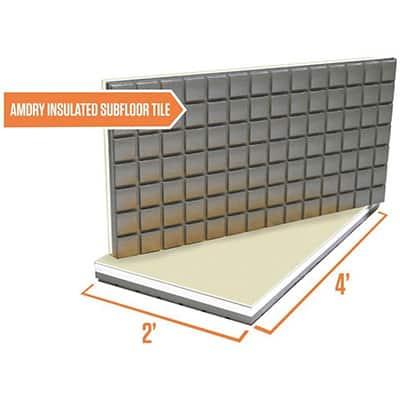 Tile floors allow for heated flooring systems