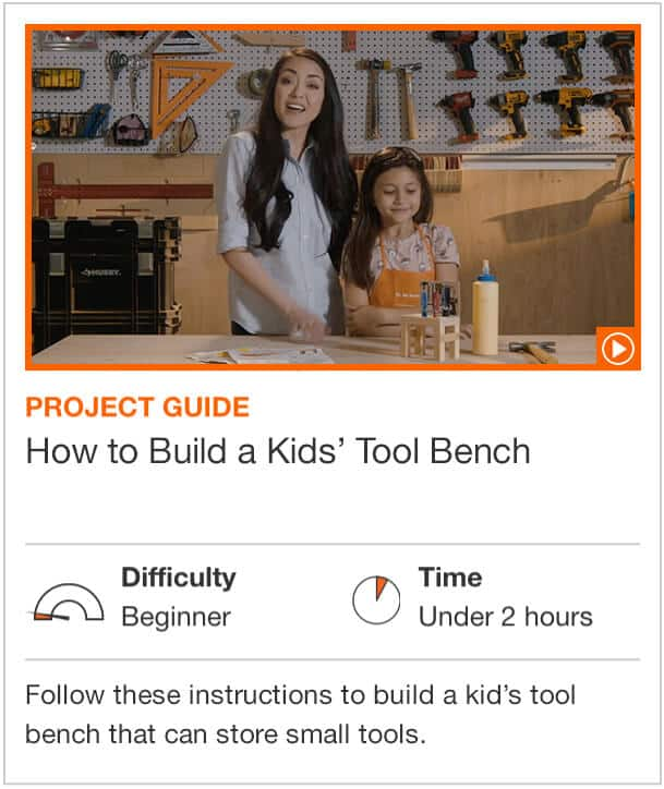 How to Build a Kids' Tool Bench  Follow these instructions to build a kid's tool bench that can store small tools.