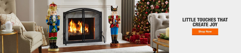 Indoor Christmas Decor hero image. Little touches that create joy