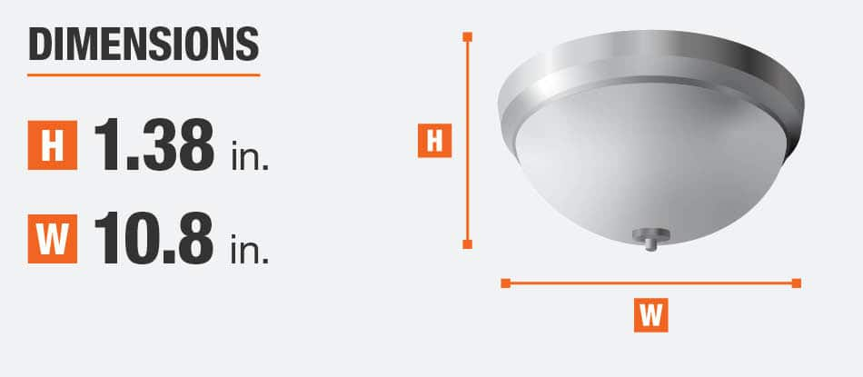 Dimensions for this product are height 1.38 in. width 10.8 in.