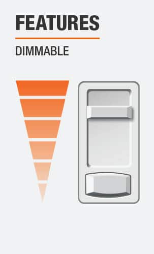 The light emitted by this product is dimmable