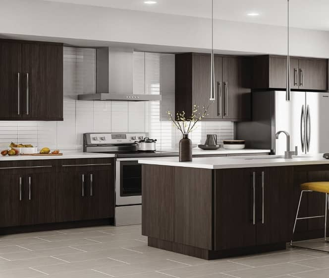Hampton Bay Designer Series  Edgeley Thunder Cabinets