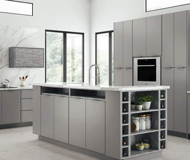 Home Decorators Collection Midtown Matte Gray Cabinets­