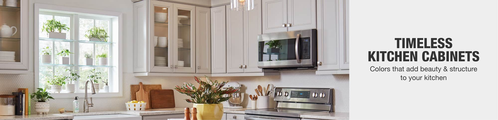 Timeless kitchen cabinets. Colors that add beauty & structure to your kitchen