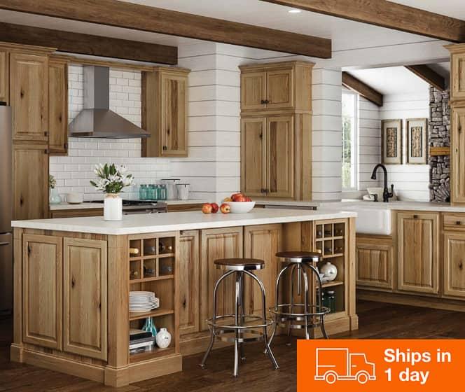 Hampton Bay Hampton Hickory Cabinets