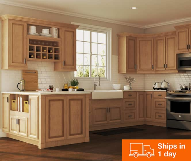 Hampton Bay Hampton Med Oak Cabinets