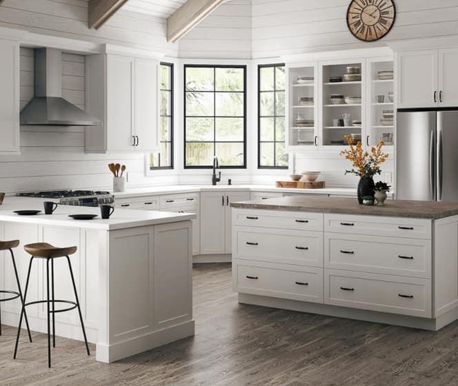 Hampton Bay Designer Series Melvern White Cabinets