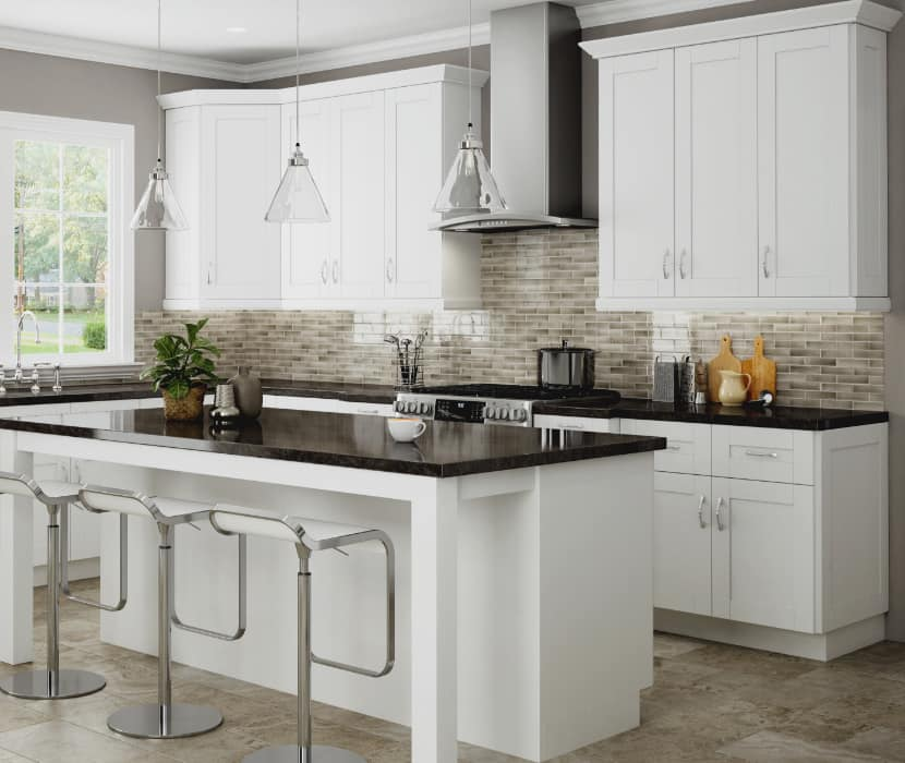 Home Decorators Collection Winchester Vesper White Cabinets 10x10 layout starts at $2,265