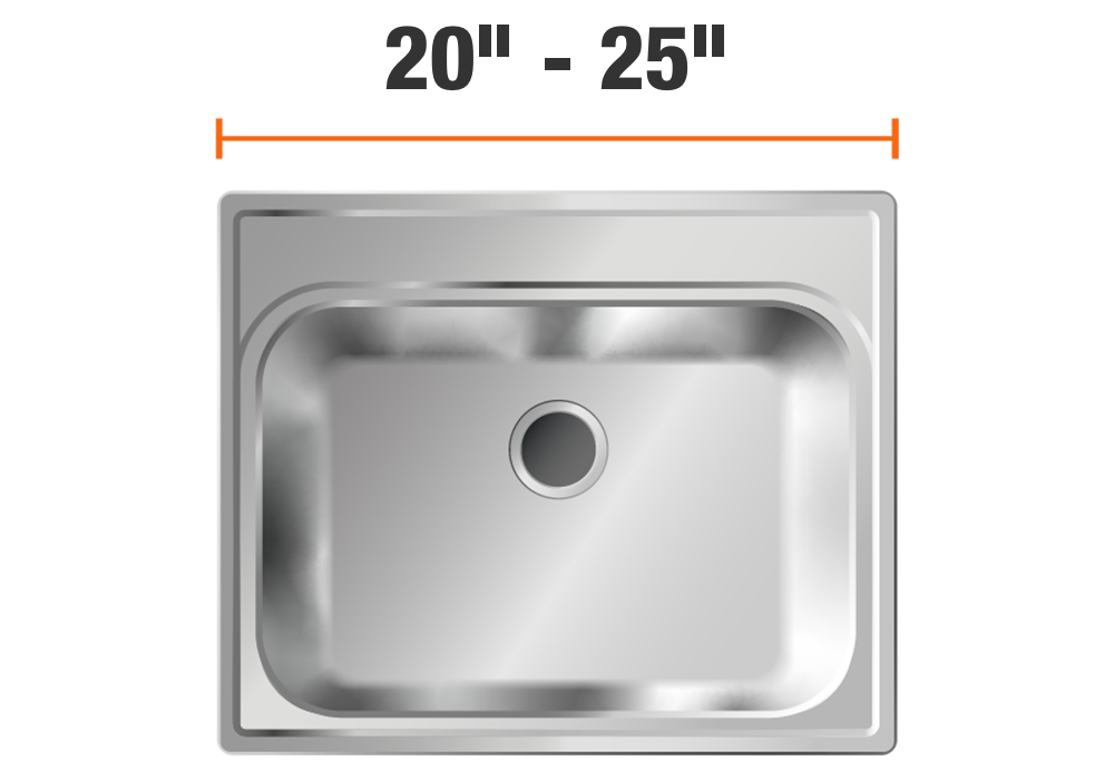 20 inch to 25 inch wide sinks