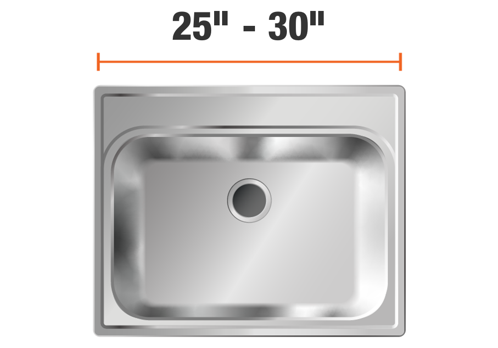 25 inch to 30 inch sinks