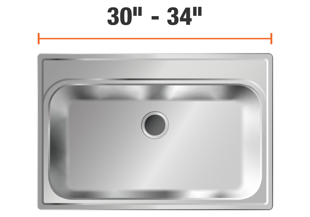 30 inch to 34 inch sinks