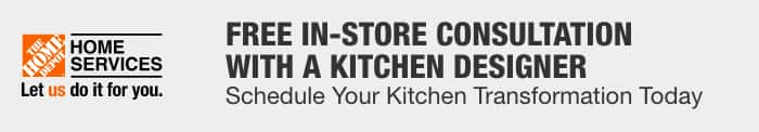 Free in-store consultation with a kitchen designer