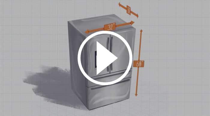 How to measure a refigerator
