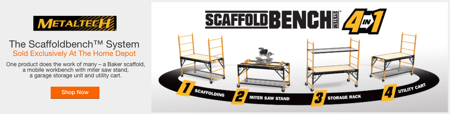 The Scaffoldbench™ System - Sold Exclusively at the Home Depot