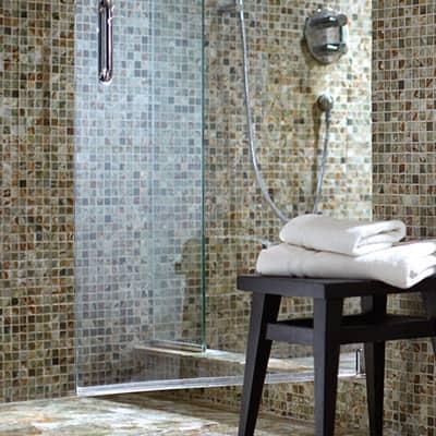 Mosaic bathroom wall tile