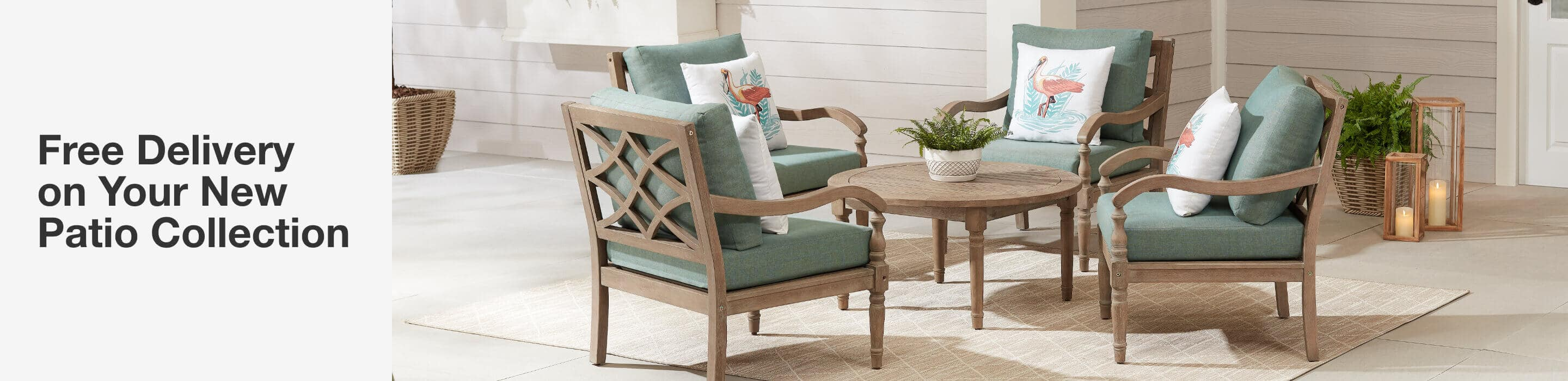 Free delivery on your new patio furniture