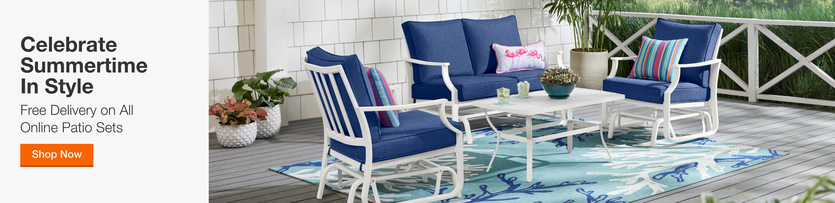 Celebrate Summertime in Style - Free Delivery on All Online Patio Sets. Shop Now