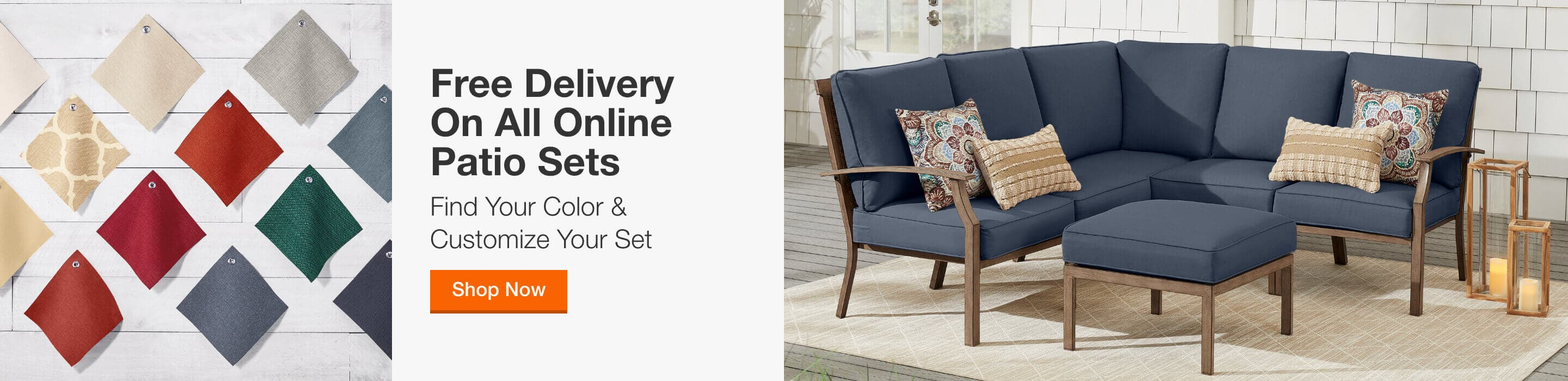 FREE DELIVERY ON ALL ONLINE PATIO SETS - Find Your Color & Customize Your Set. Shop Now