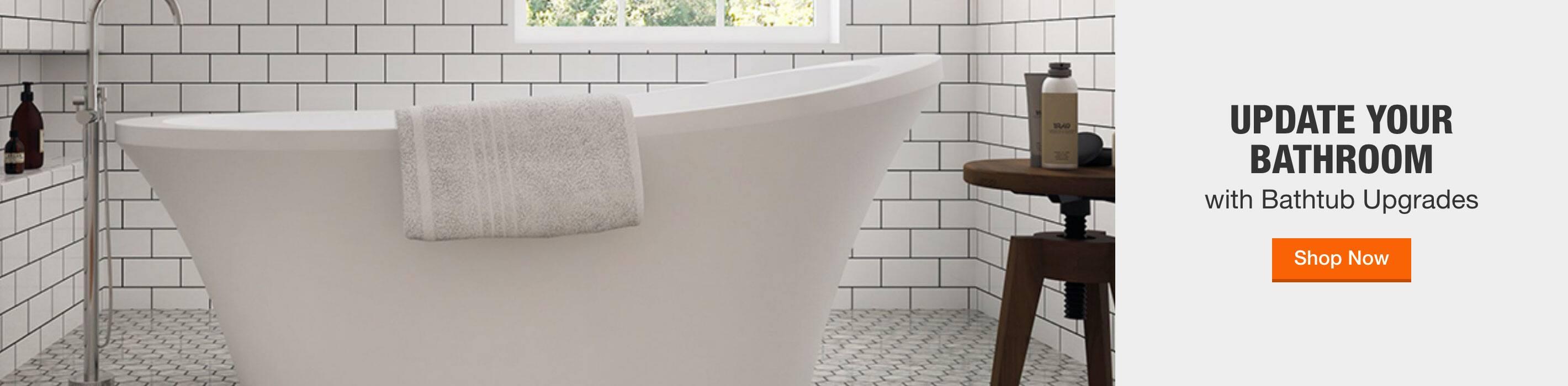 update your bathroom with bathtub upgrades. shop now.