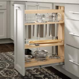 Pull-out kitchen cabinets